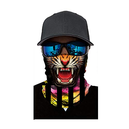 FEDULK Half Face Mask for Hunting Motorcycle Running Outdoor Sport Breathable Tube Balaclava Halloween -