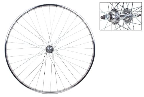 7sp Freewheel - Wheel Rear 27 x 1-1/4 Silver, Bolt On, 5/6/7sp FW Hub, 14g UCP Spokes, 36H