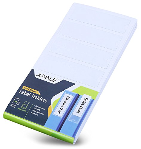 (120 Plastic Inserts for Binder - Self Adhesive Transparent Label Holders for Ring Binders, Archive Files, Catalogs, and Filing Trays - 126 Blank Tabs, 1 x 3 Inches)