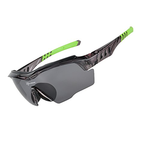RockBros Polarized Cycling Glasses Sports Glasses Sunglasses Goggles Black - Sport Sunglasses Swiss