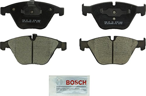 Bosch BC918 QuietCast Premium Ceramic Disc Brake Pad Set For Select BMW 1 Series M, (xi, xDrive, i, Ci, Li),  335, 525, 528, 530, 535, 545, 550, 645, 650, 745, 750, 760, M3, Z4; Front