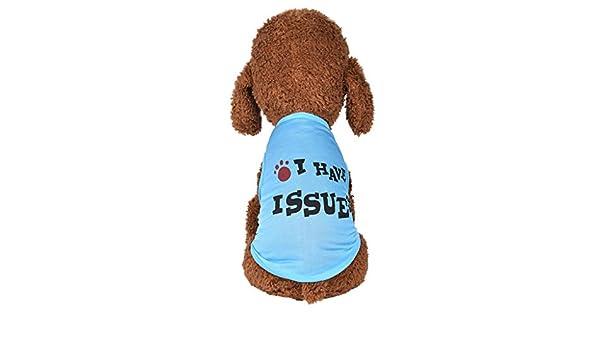 Hefine chaleco para perro, playera con impresión de letras ...