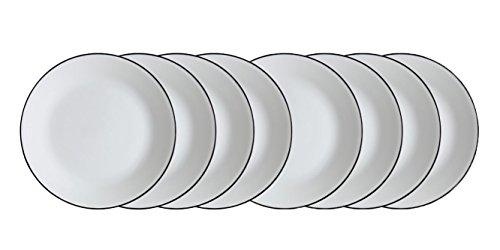 -  Corelle Livingware Brilliant Black 10.25 Dinner Plates - Set of 8 (10.25)