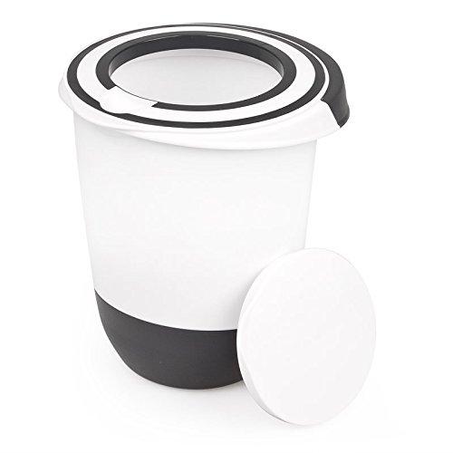 Rührschüssel 1,5 Liter Deckel Rühröffnung Stoppboden Schüssel Frischhaltedose