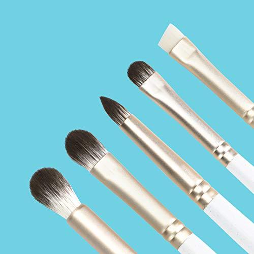 Anne's Giverny Eyeshadow Brush Set Blending Crease Smudge Eyeliner Detailer Kit in 5pcs Smokey Eye Makeup Brushes