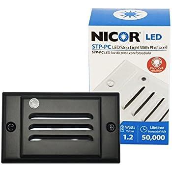Nicor Lighting Led Step Light With Photocell Sensor And