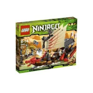 Toy   Game Lego Ninjago Destinys Bounty 9446 With 6 Minifigures  Golden Hypnobrai Staff And 16 Weapons By 4Kids