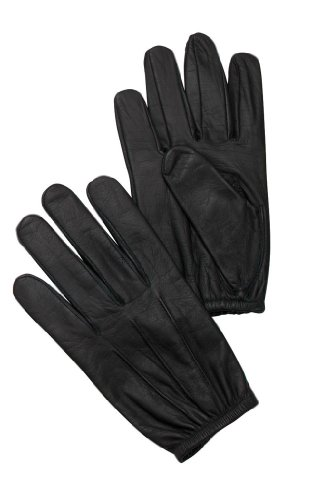 Rothco LEATHER POLICE DUTY SEARCH GLOVES-BLACK