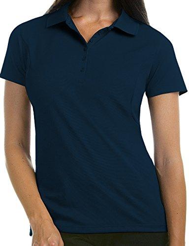 Antigua Women's Pique Xtra-Lite Desert Dry Polo Shirt, Navy, Small from Antigua