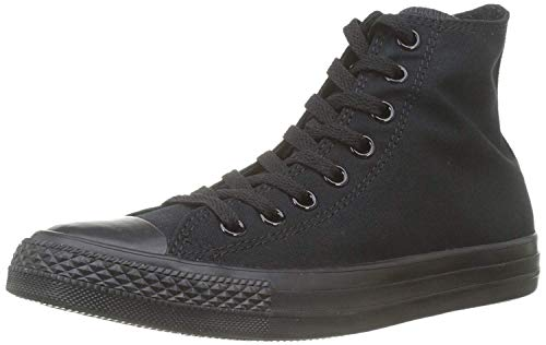 Converse Mens Chuck Taylor All Star High Top, 5 D(M) US, Black Monochrome (High Top Chuck Taylors With Skinny Jeans)