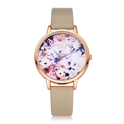 BCDshop Watches, Women Teen Girls New Elegent Quartz Wristwatch Clock Ladies Dress Gift Watches (Khaki, Alloy)