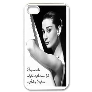 Custom Printed Phone Case Audrey Hepburn For iPhone 4,4S RK2Q03367