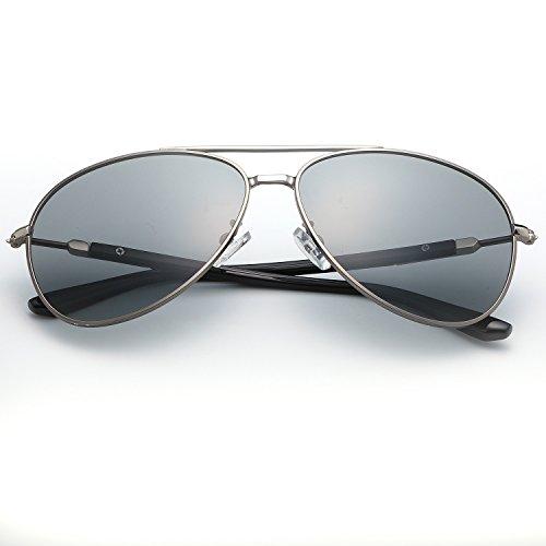 Gratuite Hommes Cadre Rétro Shades Métal Lunettes En Polaroid Conduite Preuve Soleil oculos Marque Lumière de Designer UV400 Gray Sol lunettes Livraison gwnzn