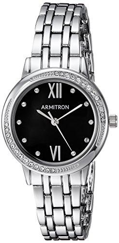 Armitron Women's 75/5516JMSV Swarovski Crystal Accented Silver-Tone Bracelet Watch ()