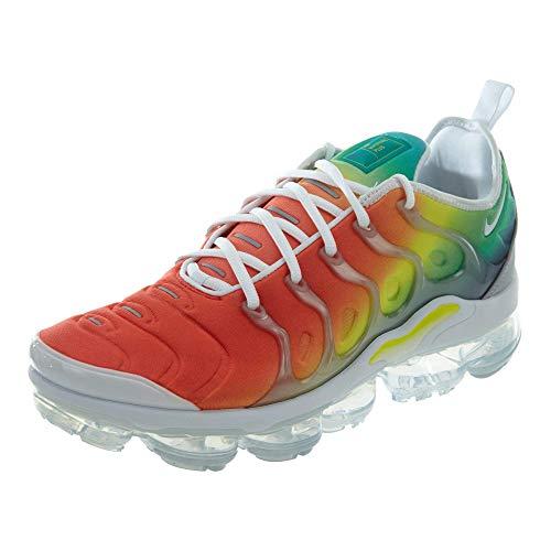 Nike Air Vapormax Plus (White/White-Neptune Green, 9.5) (Nikes Shoes Rainbow)