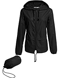 Meaneor Womens Rainwear Active Outdoor Hooded Cycling...