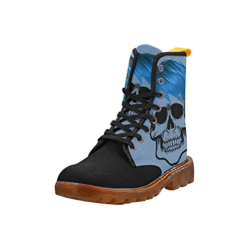 LEINTEREST funny Skull, blue Martin Boots Fashion Shoes For Women