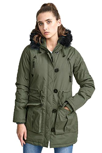 Parka Verde Caqui Militar Soul Brave Chaqueta Mujer Para qCU1xw