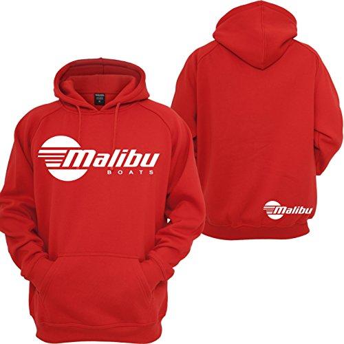 Custom Teez Malibu Boats Hoodie Wake Board Skier Motorsport Racing JDM Pullover Sweatshirt Red