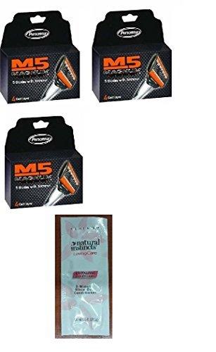 Personna M5 Magnum 5 Refill Razor Blade Cartridges, 4 ct.  w