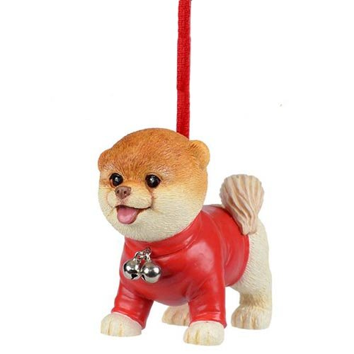 Department 56 Boo the World's Cutest Dog Holiday Ornament (Boo in Red Sweater)