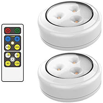 Rite lite lpl623xll 5 led puck light with optional light sensor 3 brilliant evolution brrc134 wireless led puck light 2 pack with remote control operates on 3 mozeypictures Images