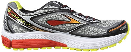Brooks Ghost 7 - Zapatillas de running para hombre Plateado (Silver/Black/Mars Red)