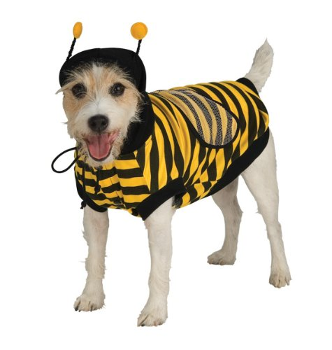 Bumblebee Dog Costume (Rubie's Bumble Bee Pet Costume,)