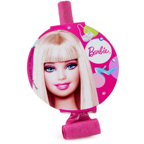Barbie All Dolled Up Party Blowouts, 8-Count