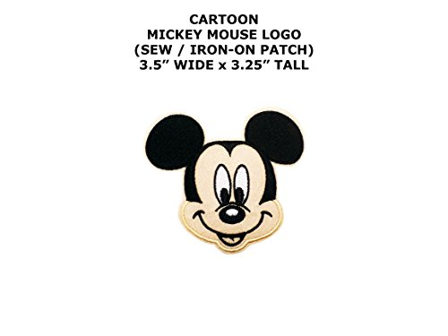Mickey Mouse Cartoon DIY Embroidered Sew or Iron-on Applique Patch Outlander Gear -