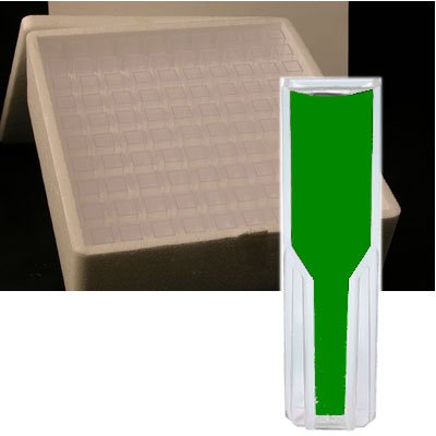 Azzota Methacrylate Disposable Uv-vis Cuvettes - 1.5ml X 100pcs - Square Cuvettes 10mm x 10mm x 45mm, Made in Germany