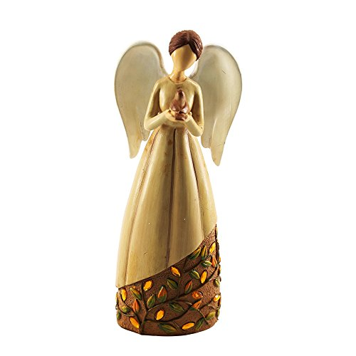 Missley Resin Prayer Angel With Skirt Acrylic Beads Decorated Bedroom Ornaments Crafts (C) by Missley