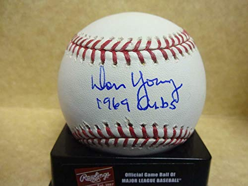 Don Young 1969 Cubs Autographed Signed Major League Baseball - Certified Authentic Autograph