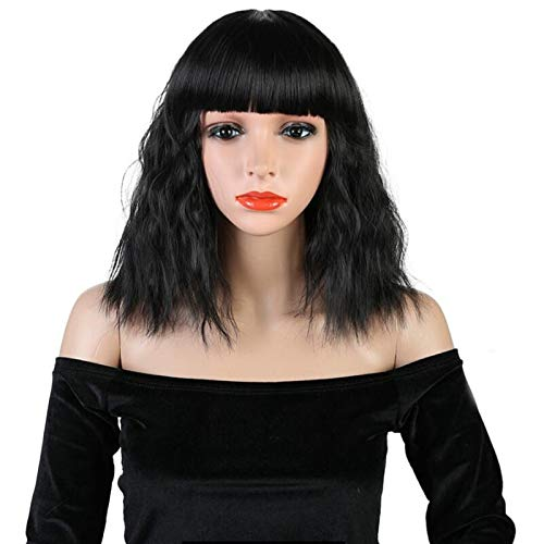 Wig High Temperature Silk New Wig Corn Hot Rose Net Wig Set ()