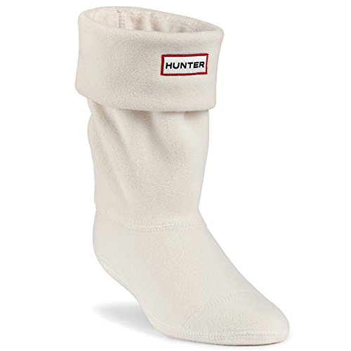 Socks Welly Fleece (Hunter Adults Boxed Short Welly Boot Socks (US F (5-7) Med, Cream))