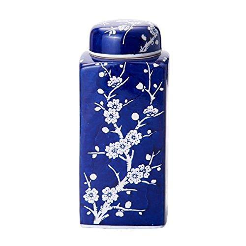 Bombay Cherry Blossom Ceramic Jar Lid, 4-Inch 9.5-Inch, Blue/White by Bombay