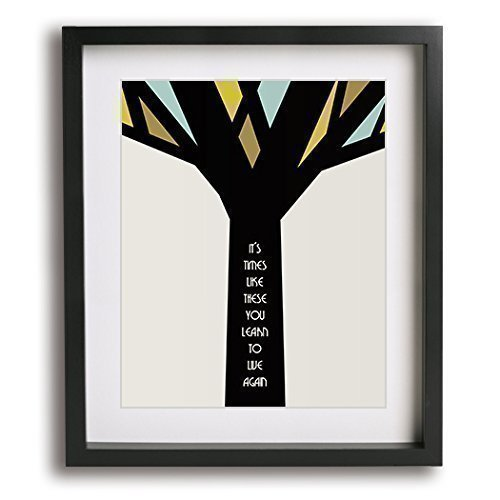 Times Like These | Foo Fighters inspired song lyric mid-century modern art print – unique music poster 41SKtboCfaL