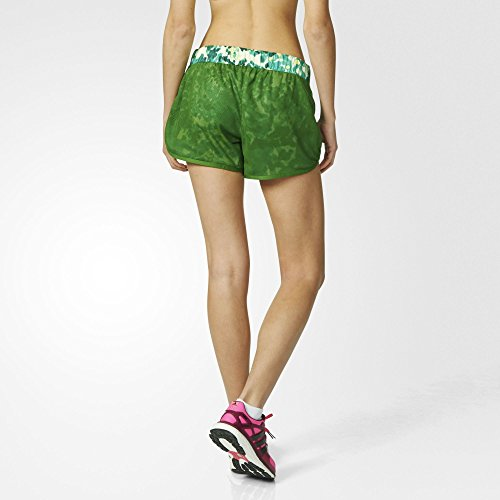 "adidas AJ6650 Short Femme Lime/Bleu FR : M (Taille Fabricant : M 3"")"