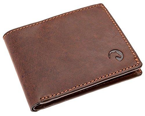 Genuine Leather Bifold Mens Wallet | Credit Card RFID Blocking Minimalist Slim ()