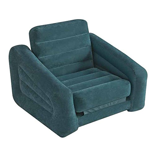 Intex Inflatable Pull-Out Chair and Twin Bed Mattress Sle...