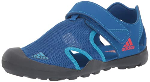 adidas outdoor Kid's Captain TOEY Kids Water Sports Shoe Sandal, Blue Beauty/Grey six/Active Red, 5 Child US Big Kid ()