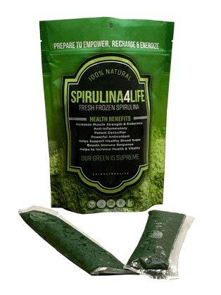 Spirulina Live Flash Frozen 100% Pure Spirulina 12 Sticks Grown in Alkaline Water (Frozen Spirulina)