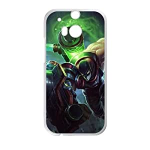 HTC One M8 Cell Phone Case White League of Legends Augmented Singed VB6005220