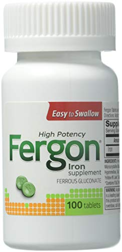 Fergon High Potency Iron Supplement, 100 Count
