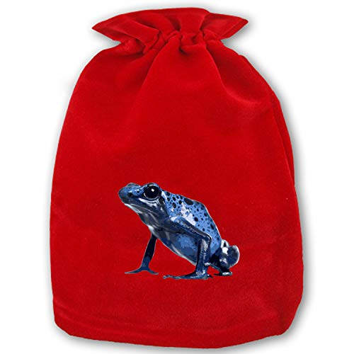 (Christmas Bag Santa Sack Personalized Canvas Burlap Bag for Gifts Christmas Gift Bags Drawstring Santa Sack Special Delivery Poison Dart Frog)