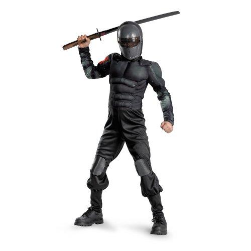 G.i. Joe Retaliation Snake Eyes Classic Muscle Costume, Black, (Spy Kid Halloween Costumes)