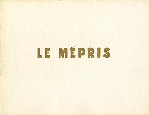 LE MÉPRIS [CONTEMPT] (1963) French pressbook landmark French New Wave by Godard