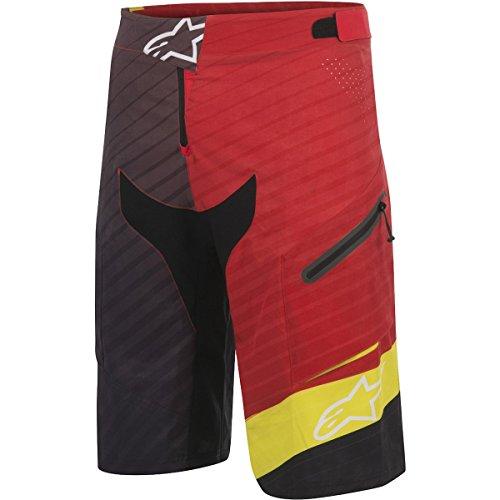 Alpinestars Men's Depth Shorts, Red Acid/Yellow Black, Size 36