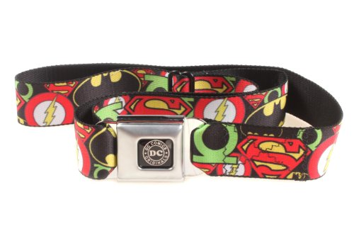 Justice League Stacked Logos Seatbelt Belt