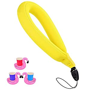 Waterproof Camera Float, Floating Wristband/Hand Grip Lanyard Works with GoPro, Nikon, Canon, Sony,Pentax,Camcorders,Panasonic, Keys and Sunglass, Phone Float Strap